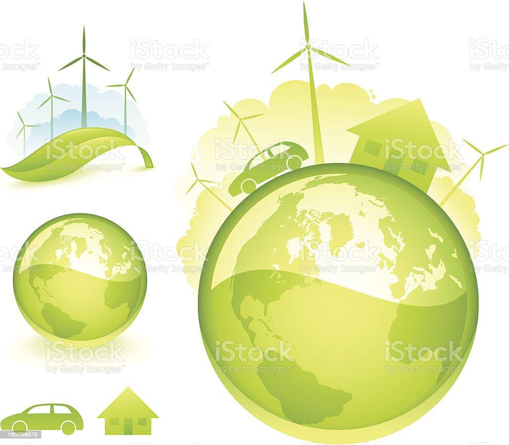 Wind energy royalty-free stock vector art