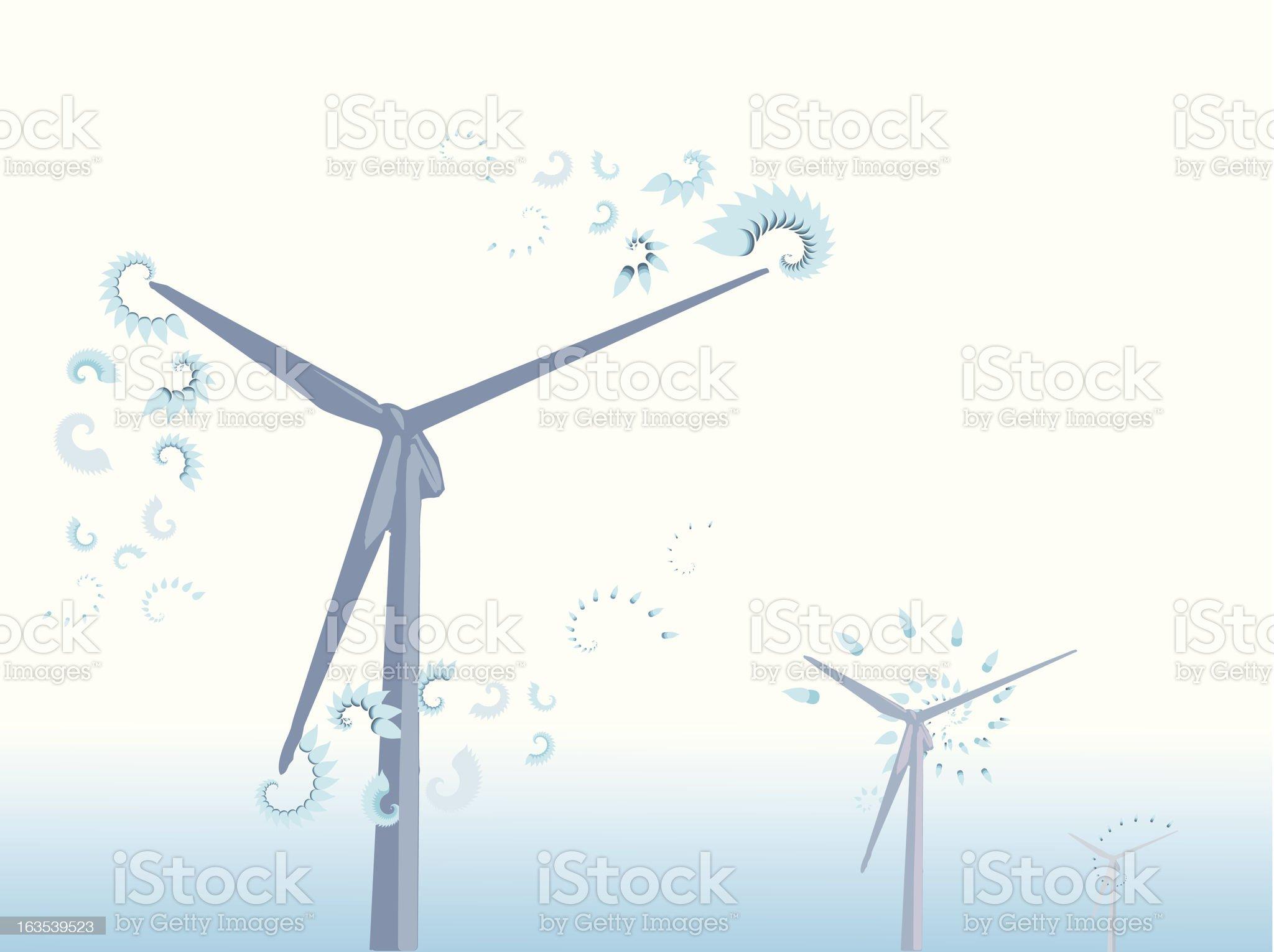 wind farm royalty-free stock vector art