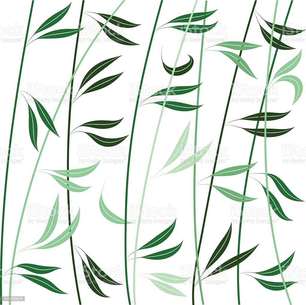 Wind in branches royalty-free stock vector art