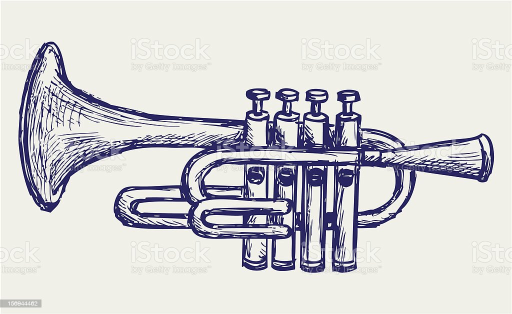 Wind musical instrument royalty-free stock vector art