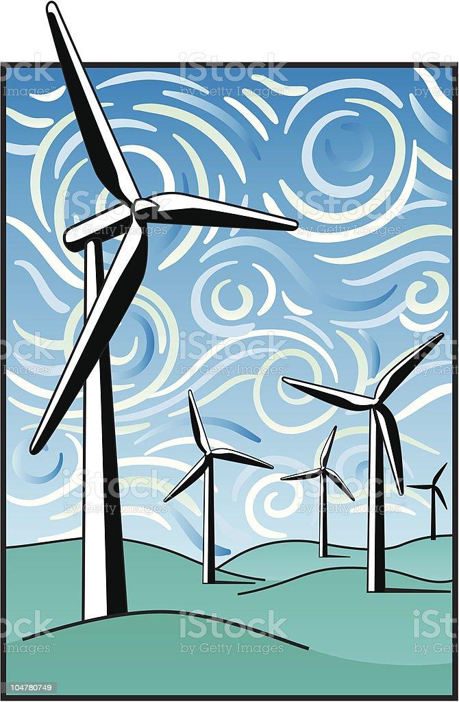 Wind Power royalty-free stock vector art