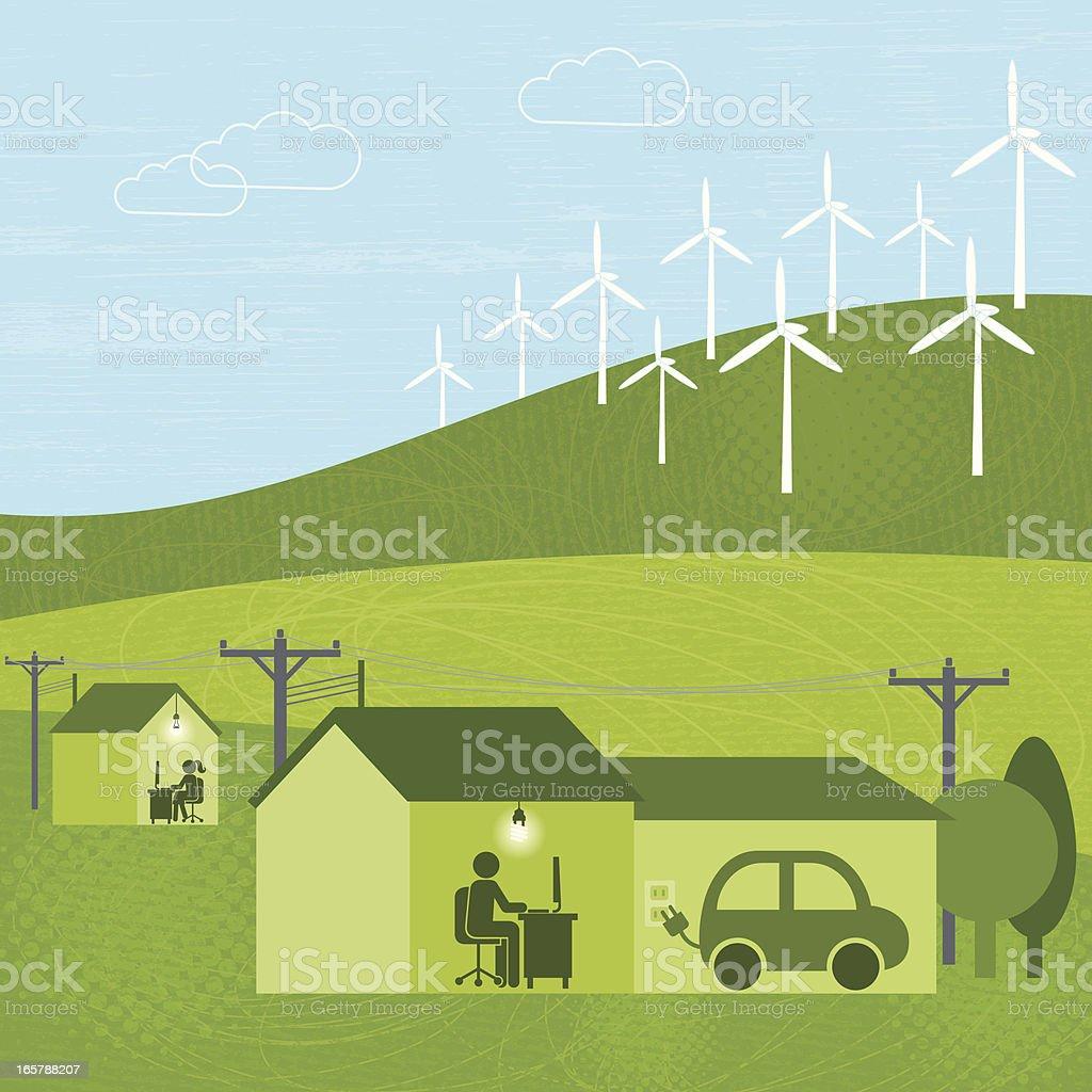 Wind Power (Green World Series) royalty-free stock vector art