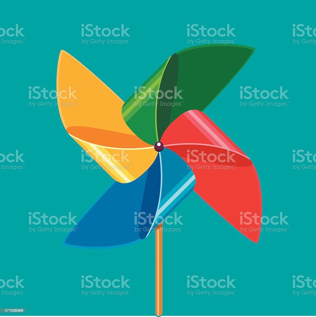 Wind propeller vector art illustration