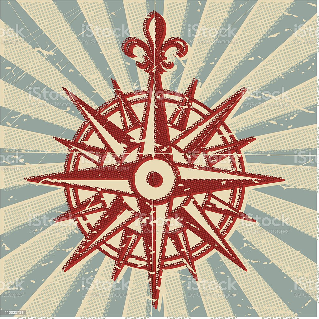 Windrose Compass vector art illustration
