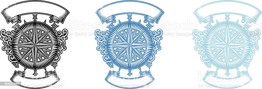 Wind rose royalty-free stock vector art