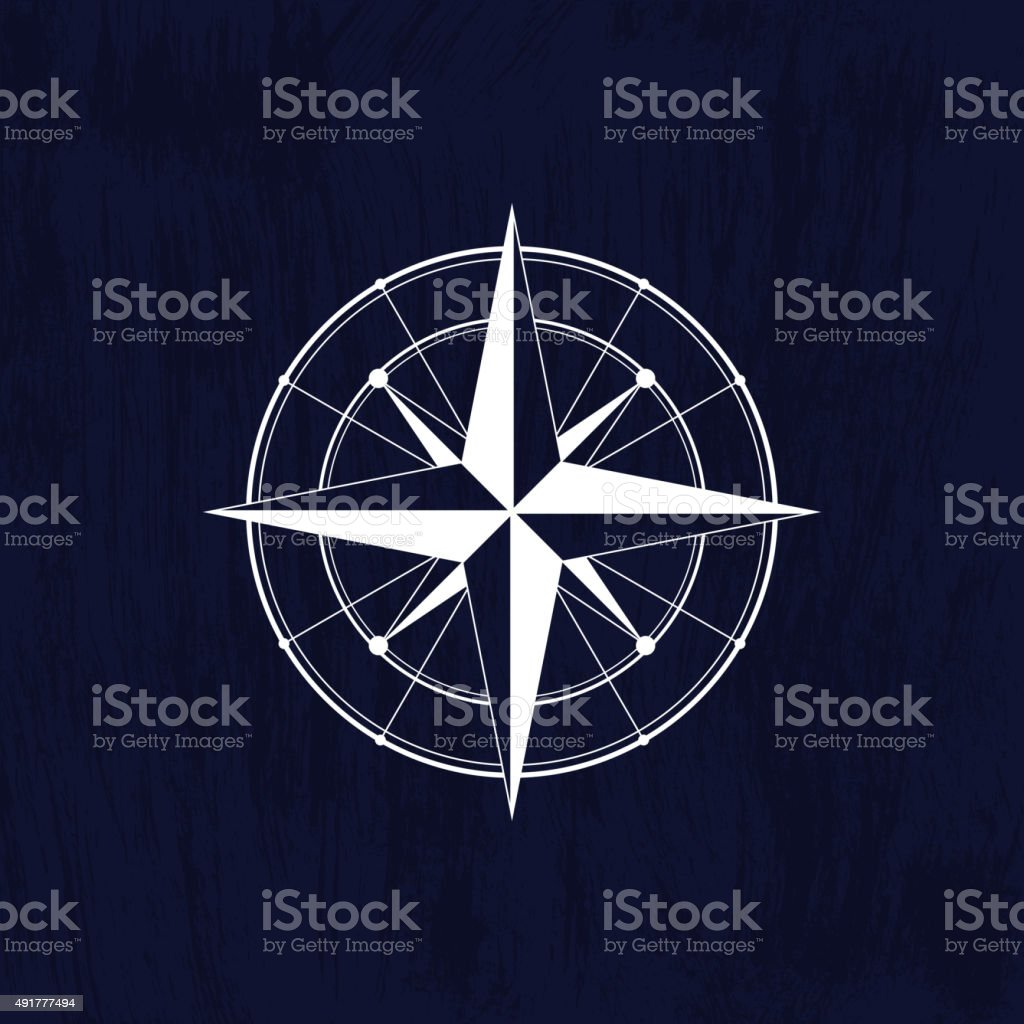 Wind rose white vector art illustration