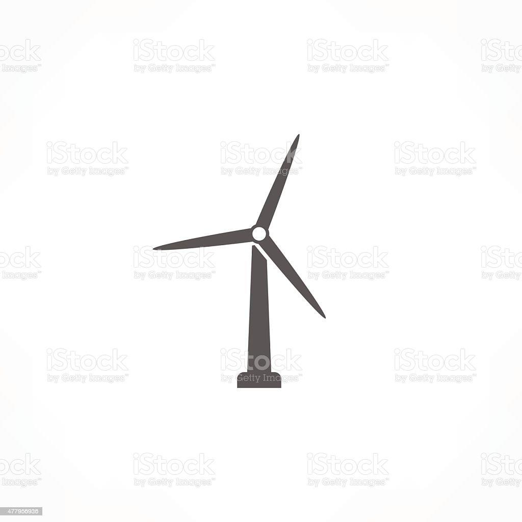 wind turbine icon vector art illustration
