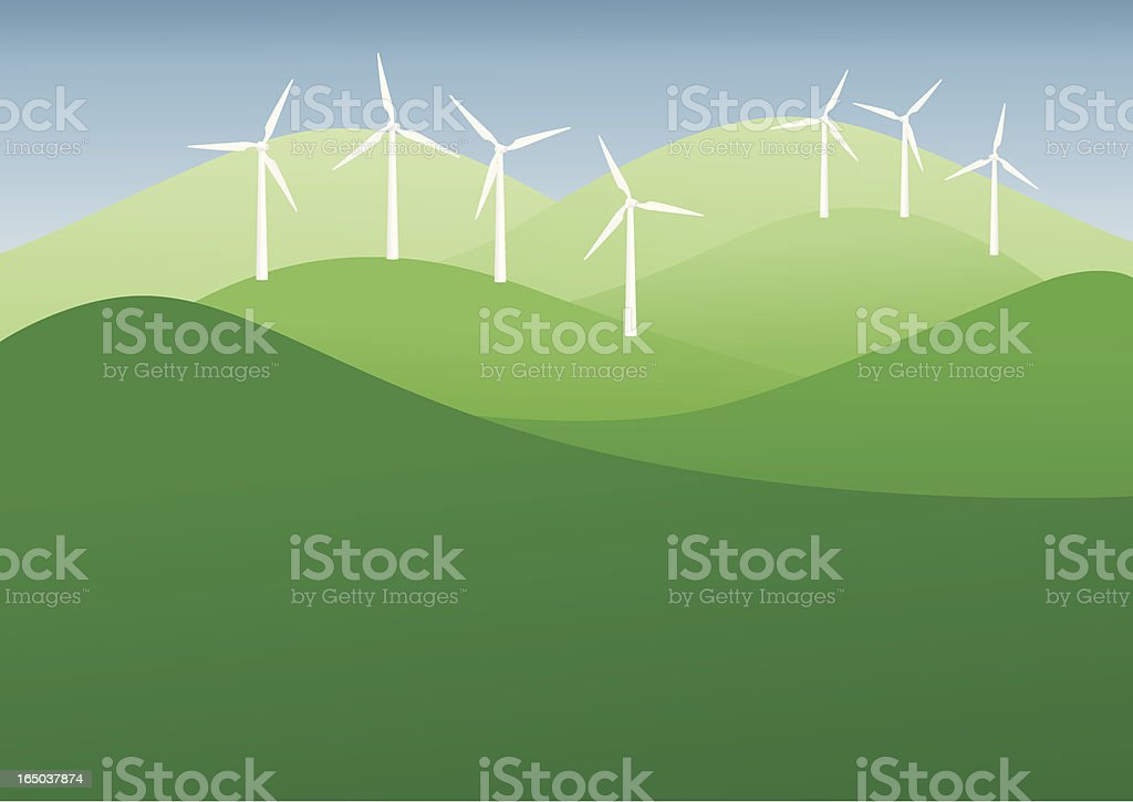 Wind Turbines - incl. jpeg royalty-free stock vector art