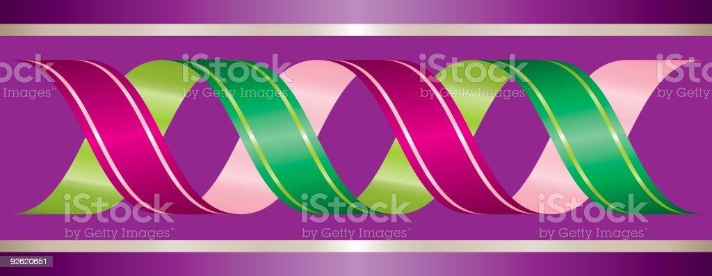 Winding Ribbon Border royalty-free stock vector art