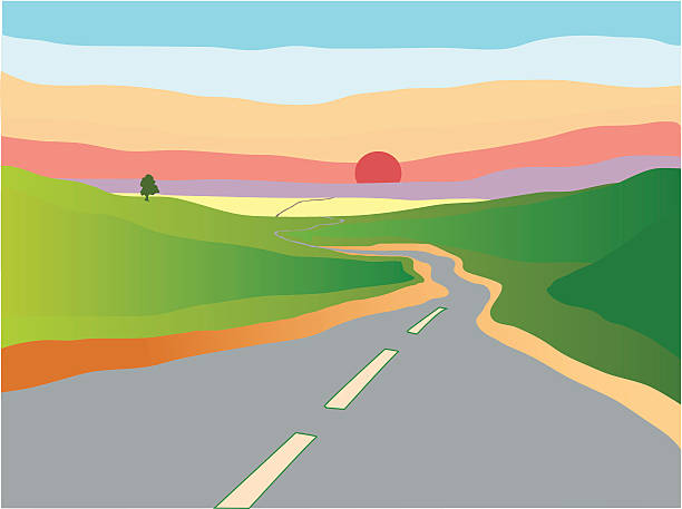 Country Road Clip Art, Vector Images & Illustrations - iStock