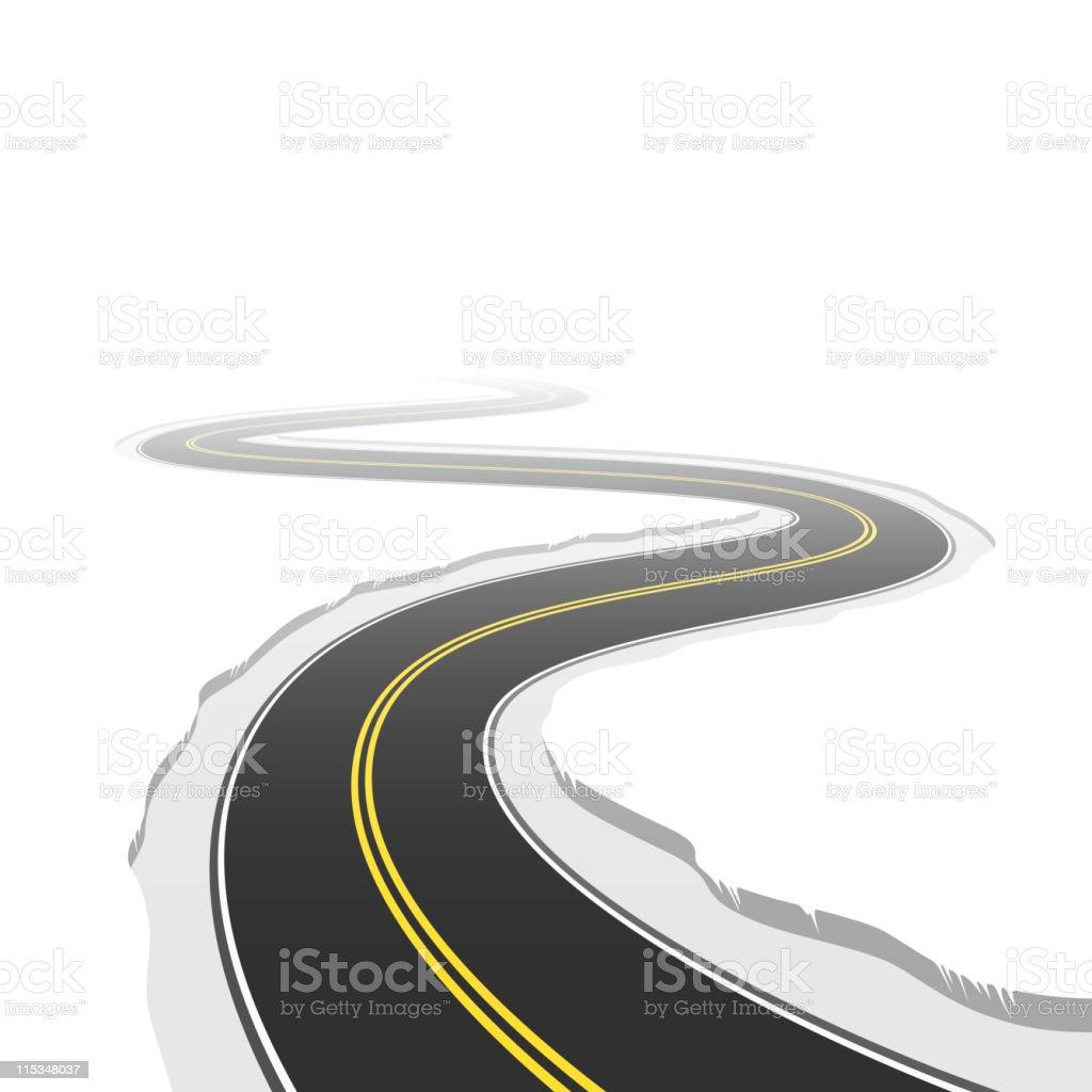 Winding road. Vector. vector art illustration