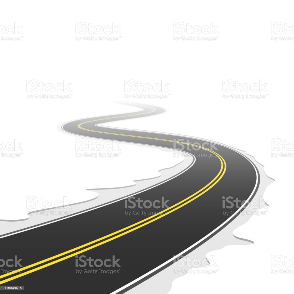 Winding road. Vector. royalty-free stock vector art