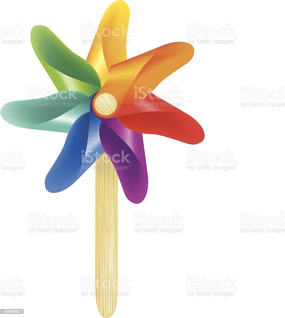 Windmühle oder Windrad Lizenzfreies vektor illustration