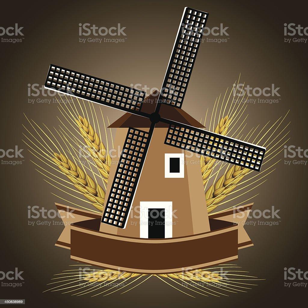 Windmill symbol royalty-free stock vector art