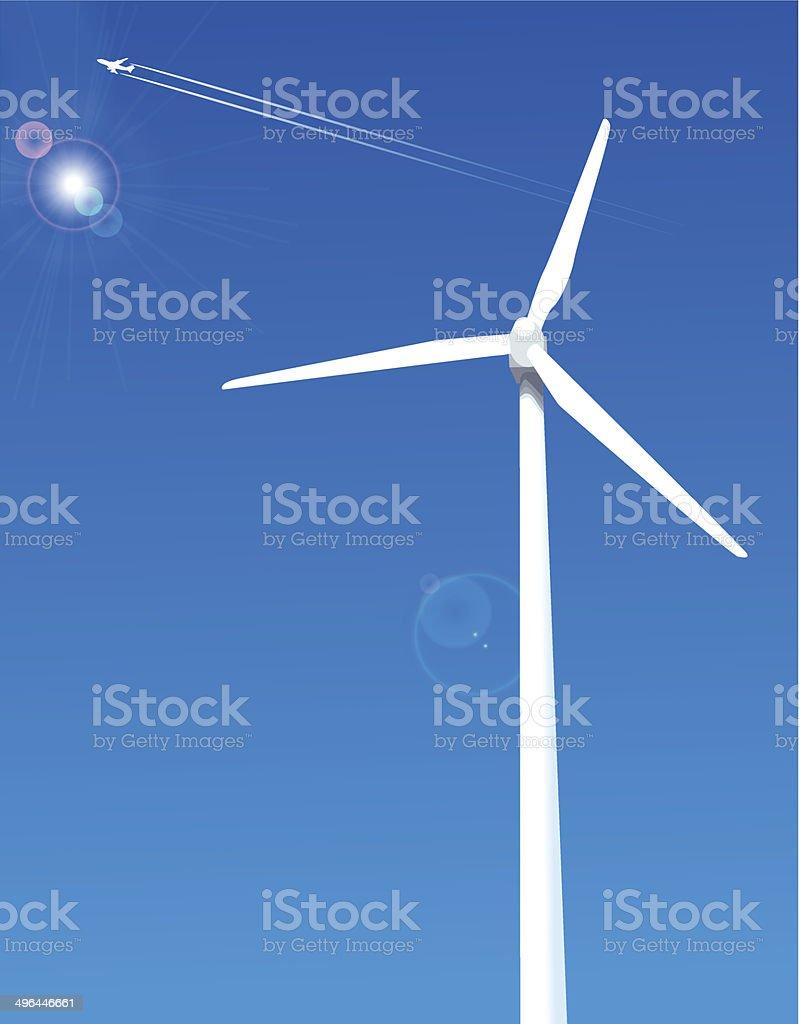 Bâtiment actionné par le vent stock vecteur libres de droits libre de droits