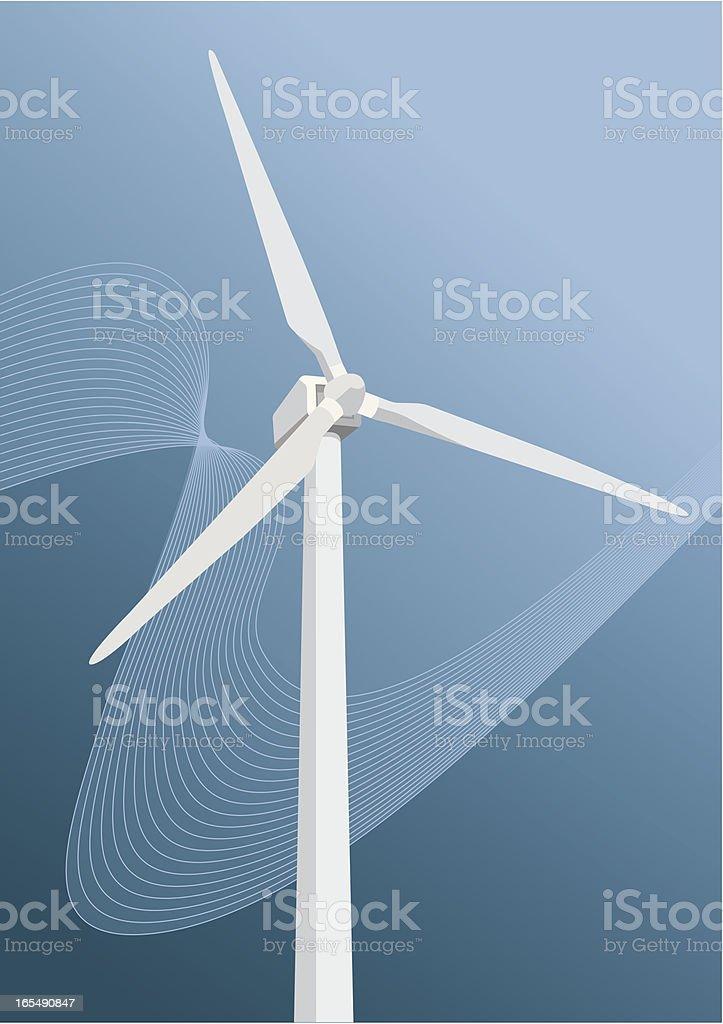 windmill_greenwave_4 royalty-free stock vector art