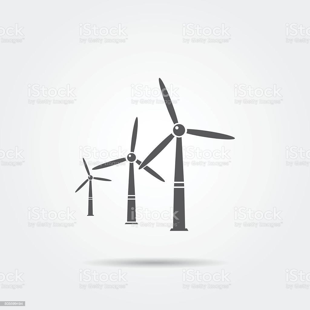Windmills icon vector art illustration