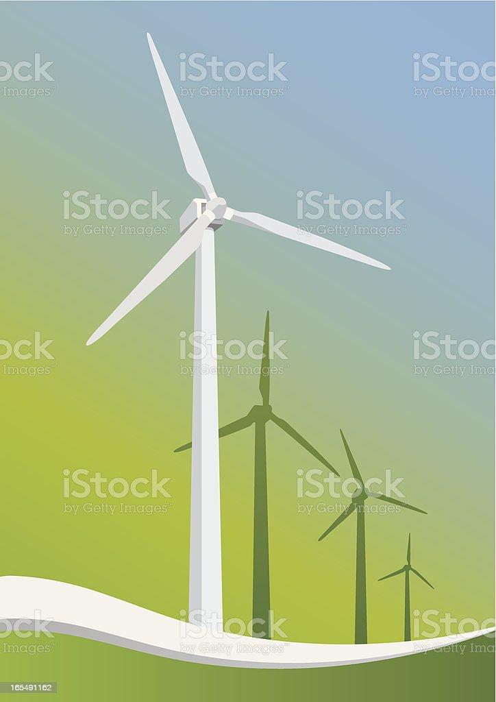 windmills_greenwave_3 royalty-free stock vector art