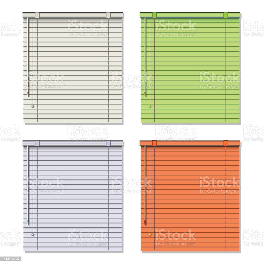 Window blinds vector art illustration