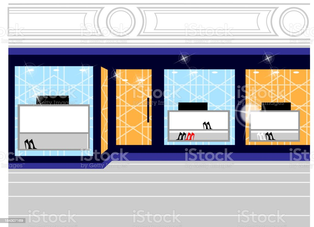 Window display in store royalty-free stock vector art