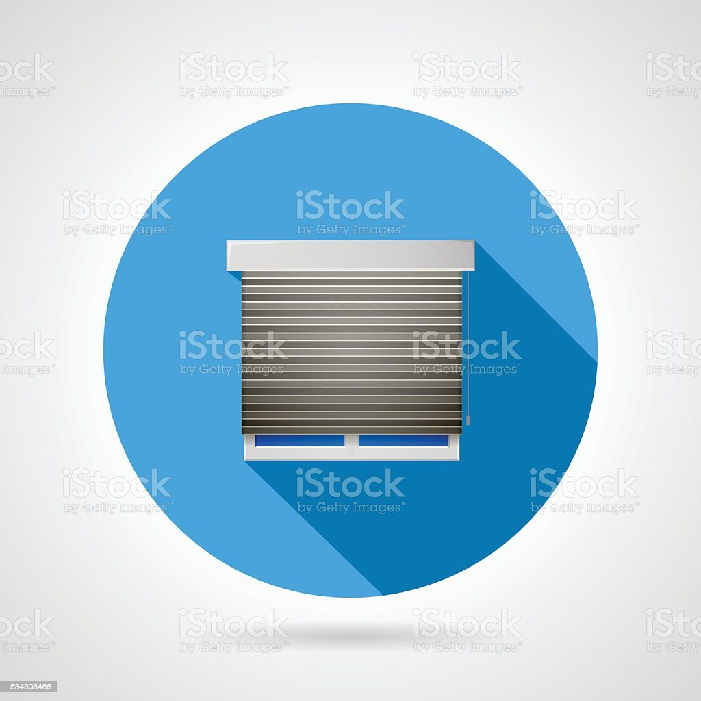 Window flat vector icon vector art illustration