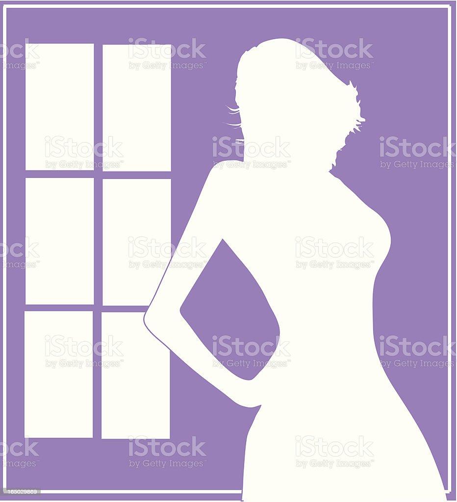 Window Girl royalty-free stock vector art