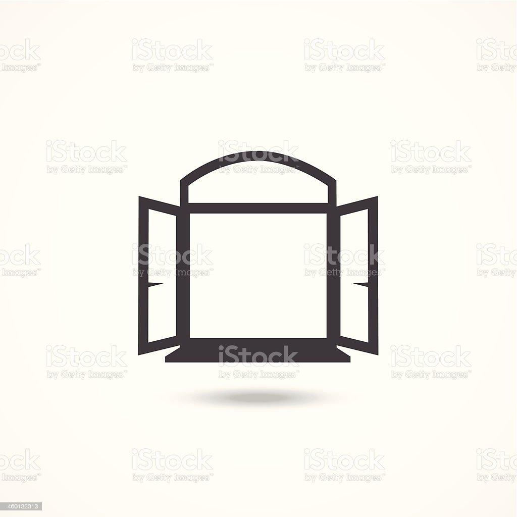 Window icon vector art illustration