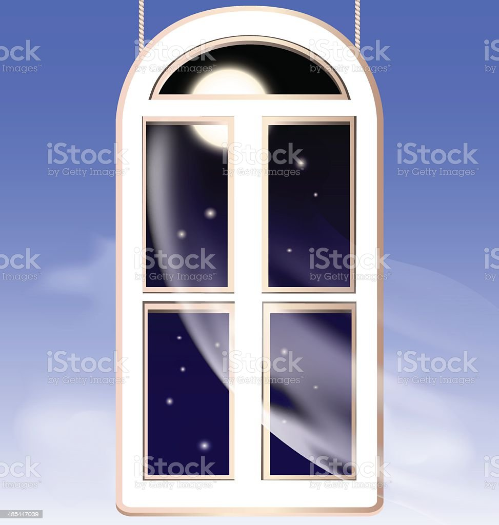 window in the night royalty-free stock vector art