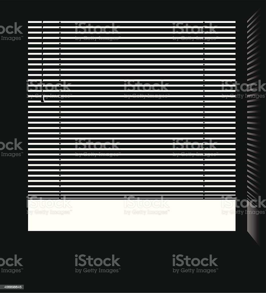 Window jalousie blinds vector. vector art illustration