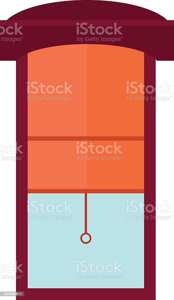 Window jalousie shutter background curtain blinds interior flat vector illustration vector art illustration