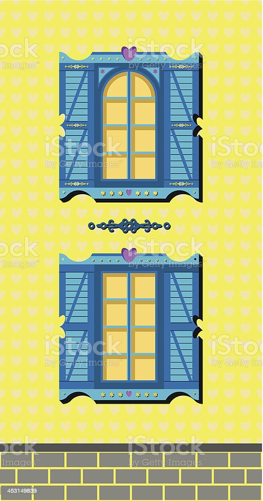 window of a house royalty-free stock vector art
