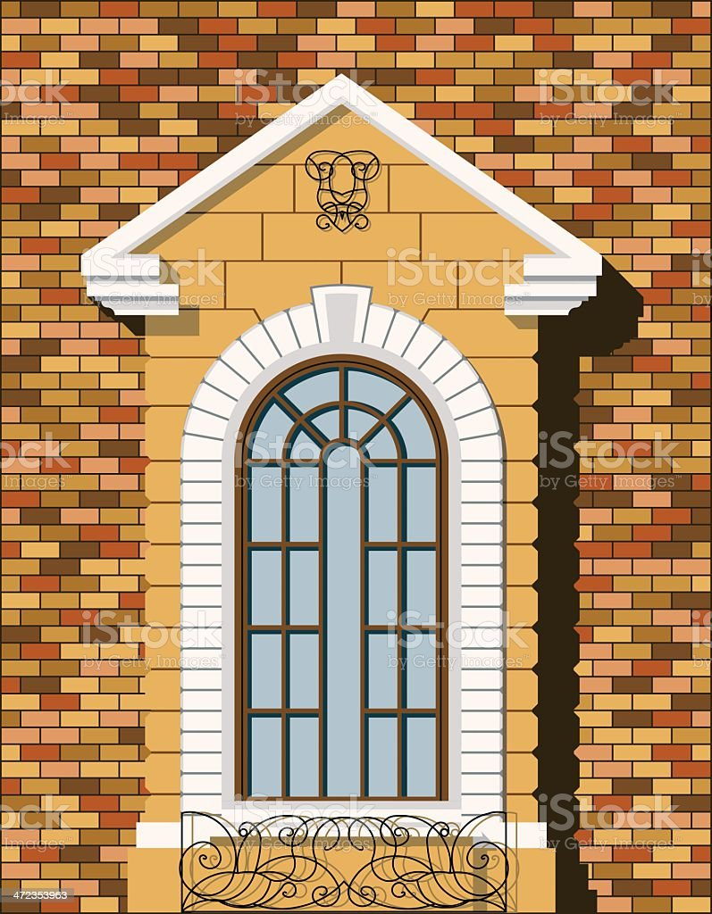window of house royalty-free stock vector art