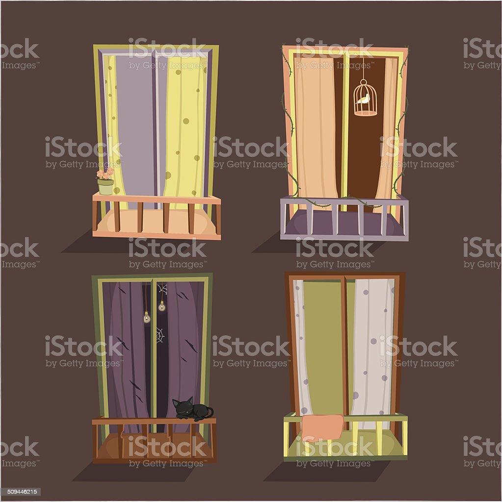 Window of rooms royalty-free stock vector art