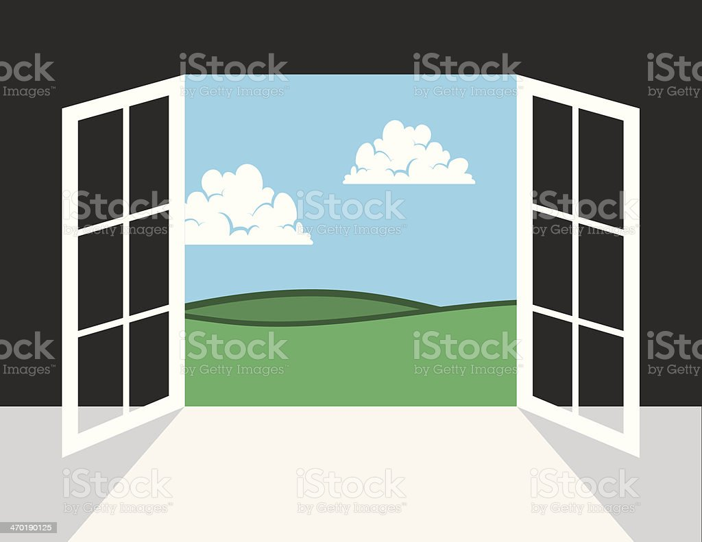 Window or Door To Outside royalty-free stock vector art