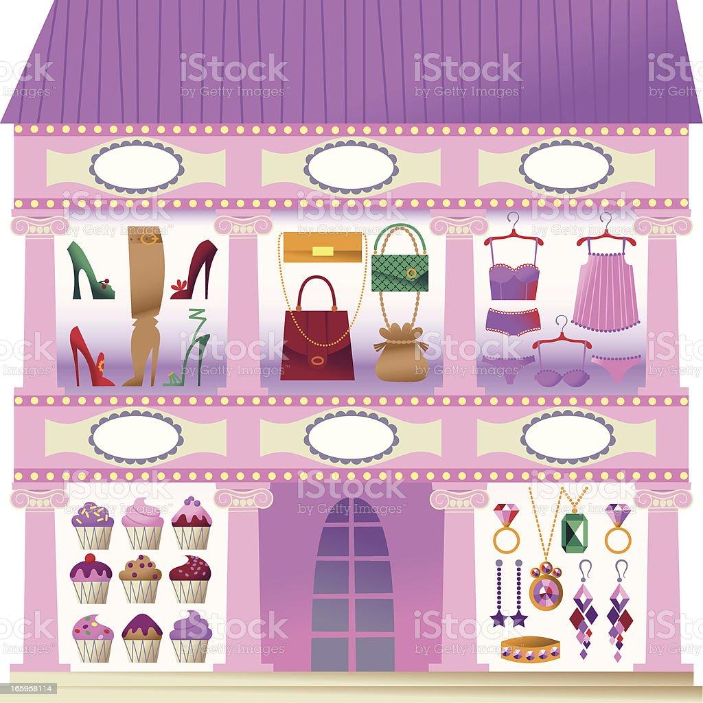 Window Shopping. royalty-free stock vector art