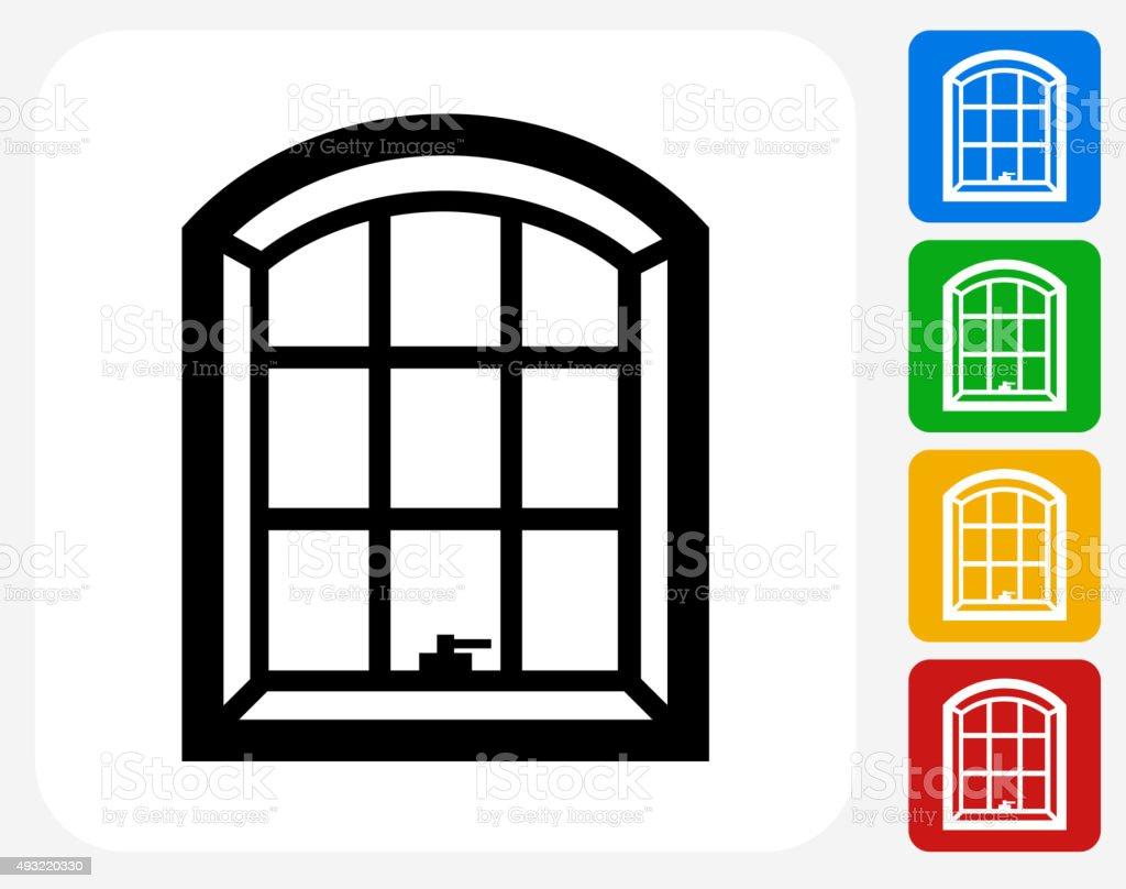 Windows Icon Flat Graphic Design vector art illustration