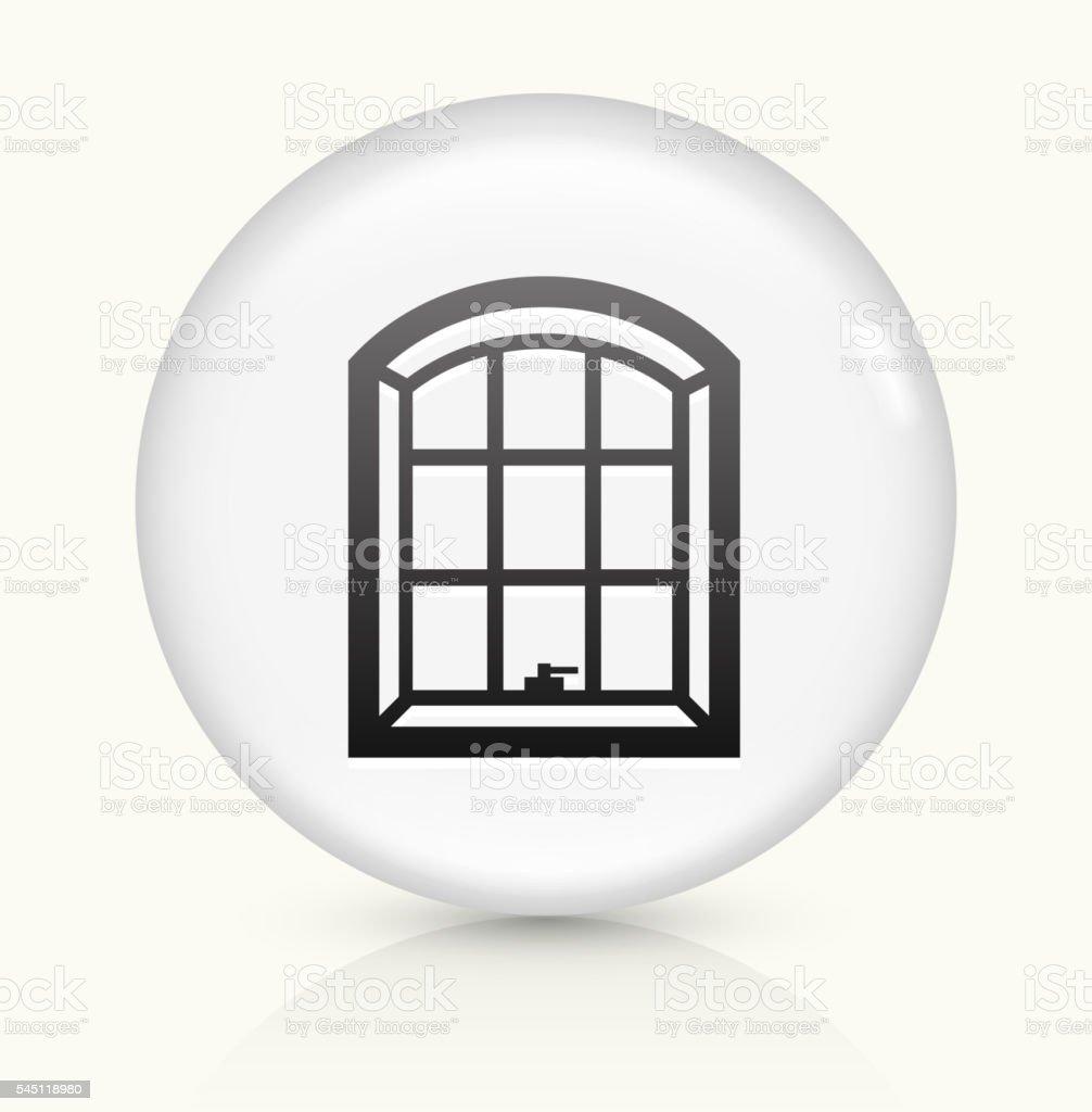 Windows icon on white round vector button vector art illustration