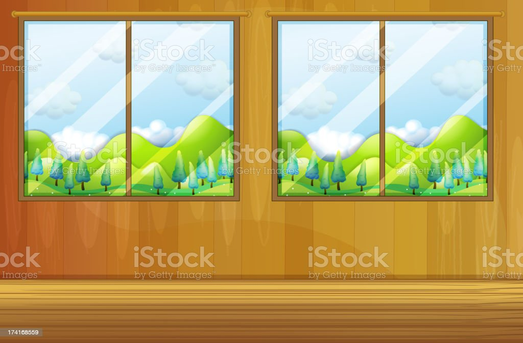 Windows made of glass royalty-free stock vector art