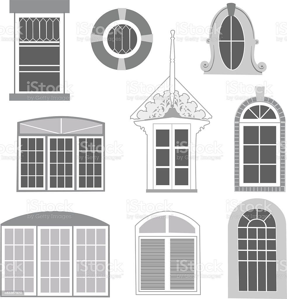 Windows vector art illustration