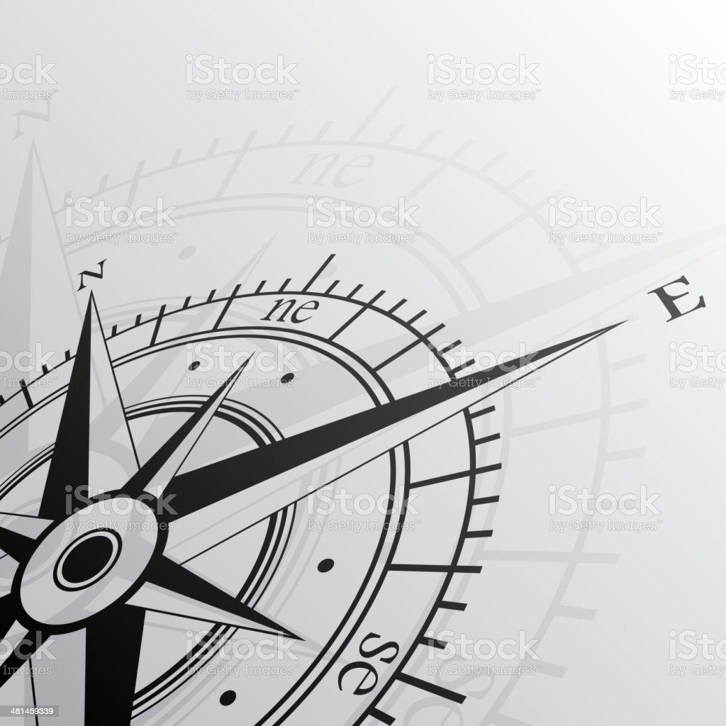 Windrose background vector art illustration
