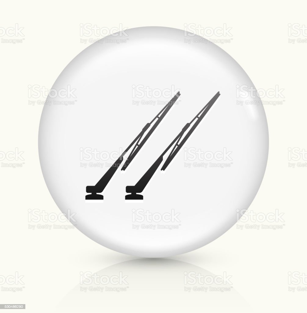 Windshield Wipers icon on white round vector button vector art illustration