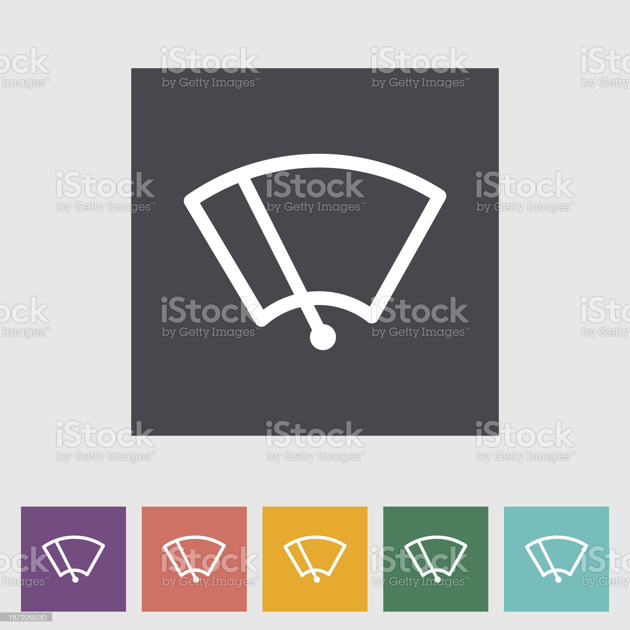 Windsield washer royalty-free stock vector art