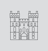 Windsor Castle line Illustration