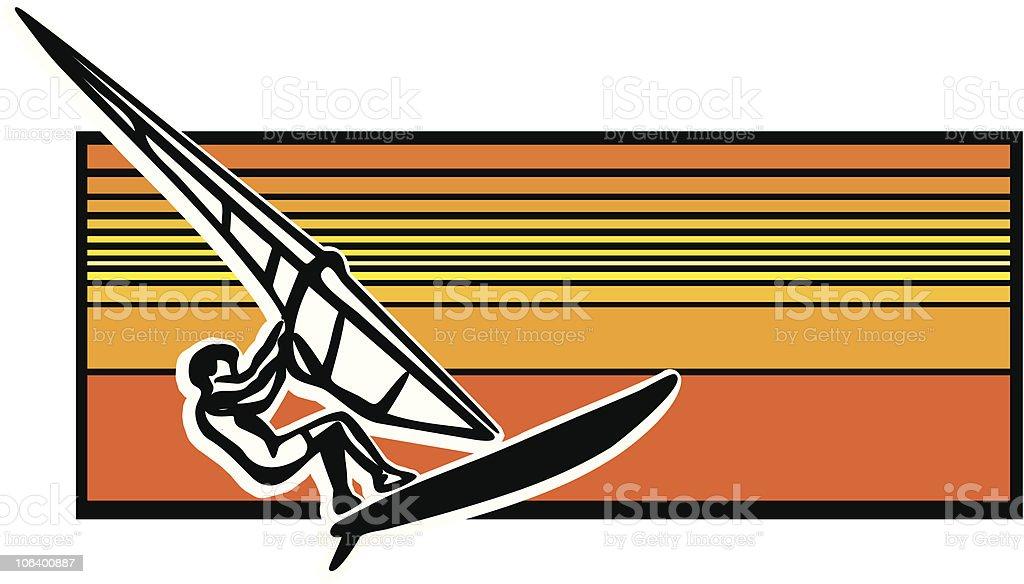 windsurfer royalty-free stock vector art