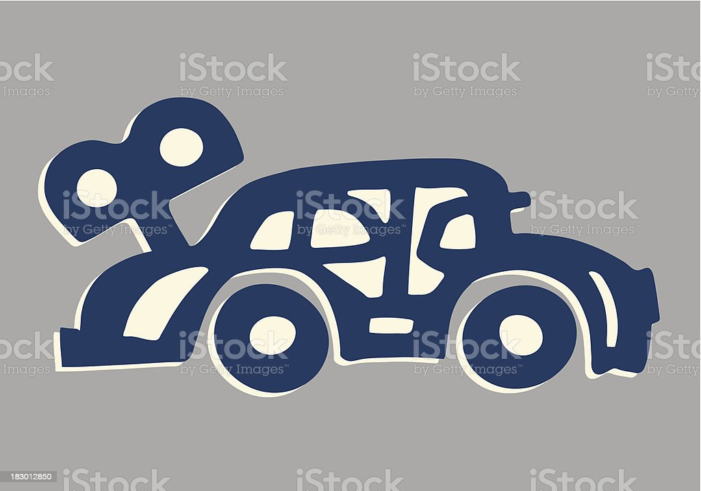 Wind-Up Car royalty-free stock vector art