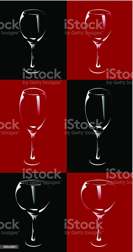 wine alcohol cocktail glasses illustration royalty-free stock vector art