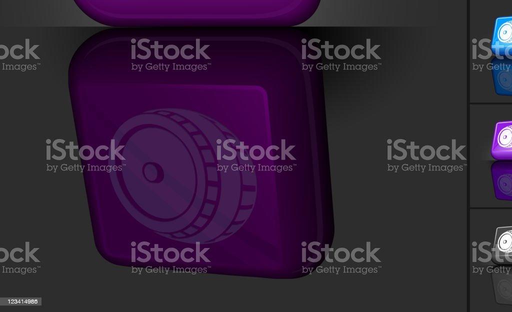 wine barrel 3D button design royalty-free stock vector art
