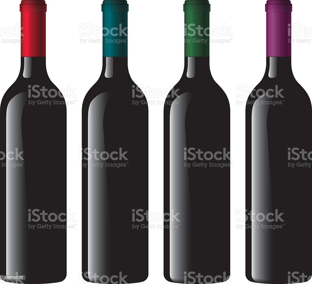 Wine Bottle Collection vector art illustration
