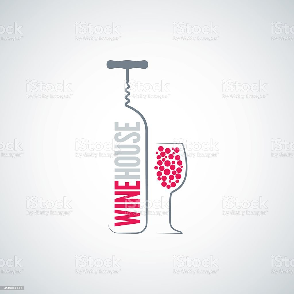 wine bottle glass menu background vector art illustration