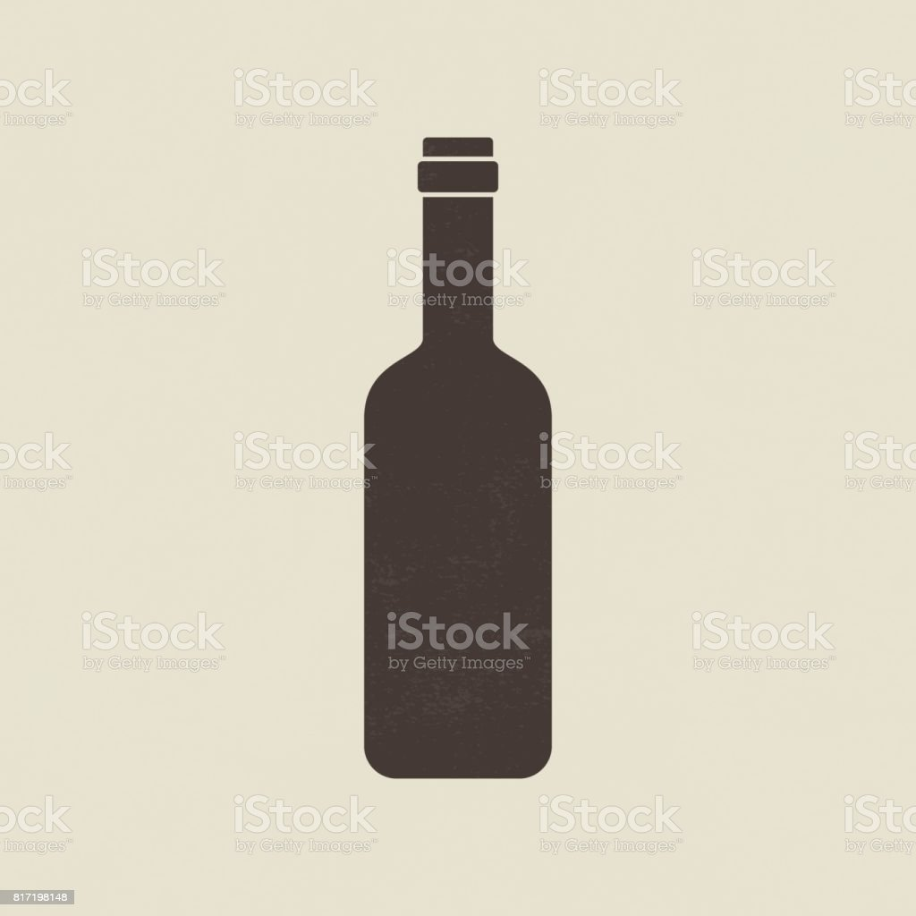 Wine bottle icon vector art illustration